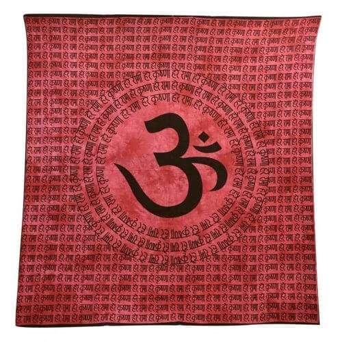 Falidísz Indiából 3 Színben Om Mintával piros