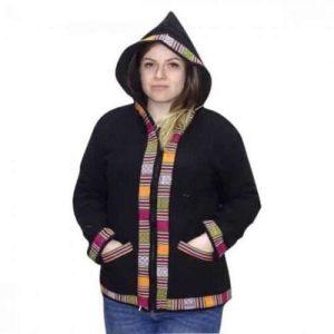 Különleges Gyapjú Uniszex Kabát Indiából Választható fekete