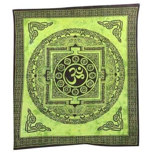 Om Mintás Falidísz Indiából 4 Színben zöld