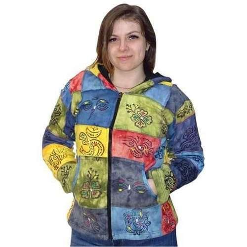 vastag bélelt rövid kabát nepálból kockás mintával