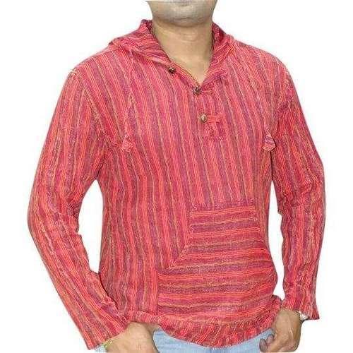 csíkos kenguru ing nepálból 3 színben piros