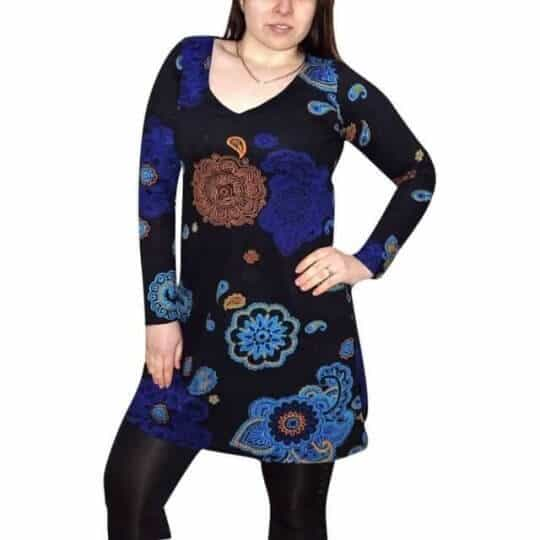 elegáns női pamut tunika mandala mintával