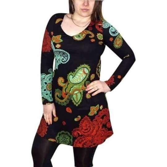 elegáns pamut tunika nőknek mandala mintával