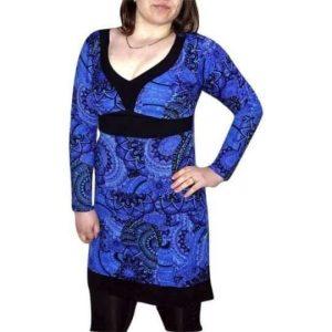 kék pamut női tunika mandala mintával