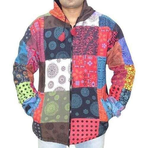 mandala mintás vastag férfi kabát nepálból
