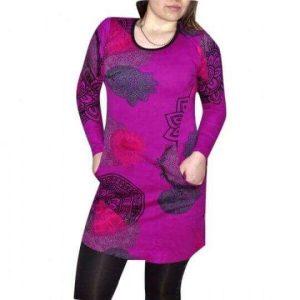 női tunika lila színben mandala mintával