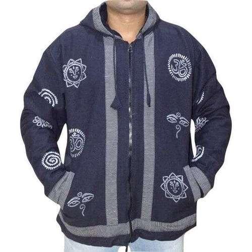 om mintás vastag férfi kabát nepálból választható fekete