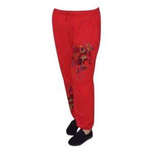 pamut nadrág nepálból varrott mintával 3 színben pirós