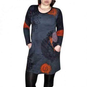 szürke színben mandala mintás női tunika