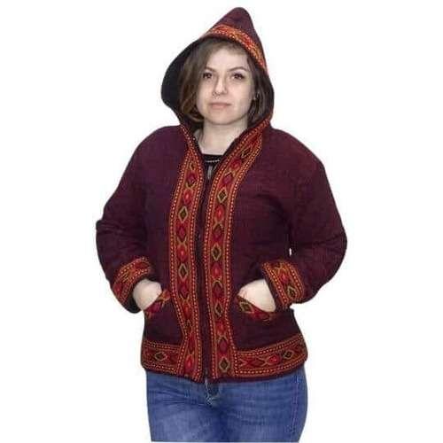 uniszex vastag indiai kabát indiából 4 színben bórdó