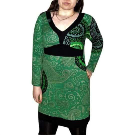 zöld női pamut tunika mandala mintával