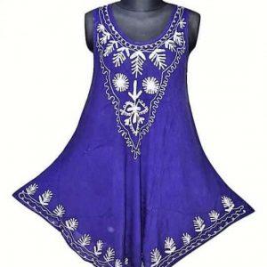hímzett rövid ruha indiából univerzális méretben