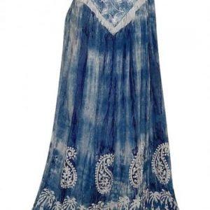 hosszú nyári ruha indiából univerzális méretben kék