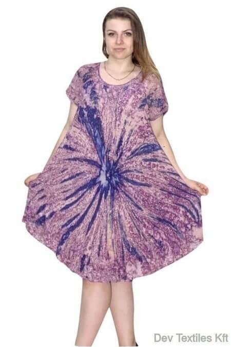 rövid ujjú rövid ruha indiából 2209 lila