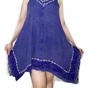 rövid ruha oldalt felvágott univerzális méretben kék