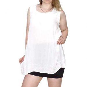tunika indiából nagy méret fehér színben