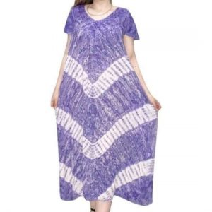 Indiai hosszú ruha extra méretben csíkos