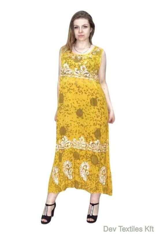 kézzel készített egyedi hosszú ruha indiából
