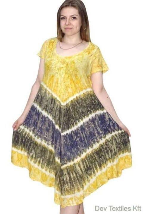 rövid ruha csíkos és színes ruha indiából