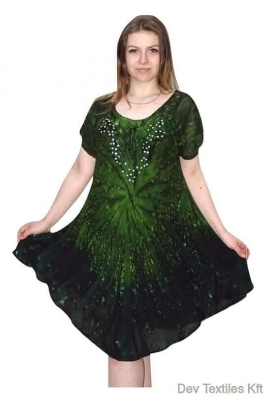 rövid ruha egyedi színes rövid ujjú ruha indiaból