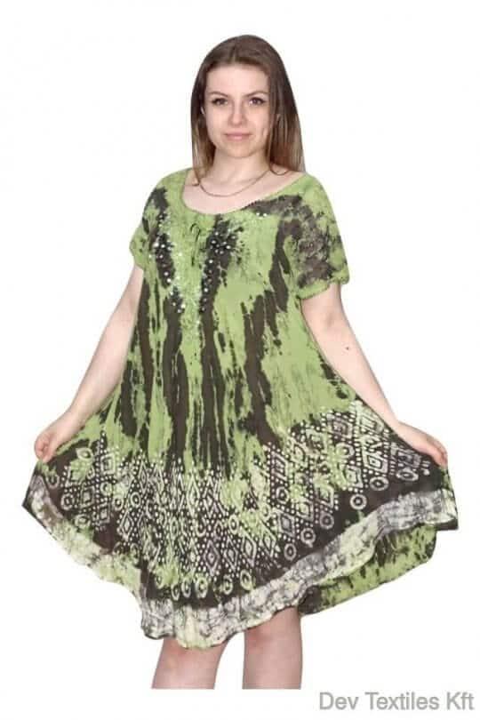 rövid ruha foltokban színes indiai ruha