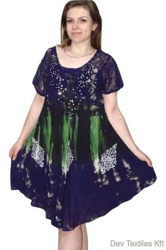 rövid ruha elegáns flitterekkel díszített ruha sötét
