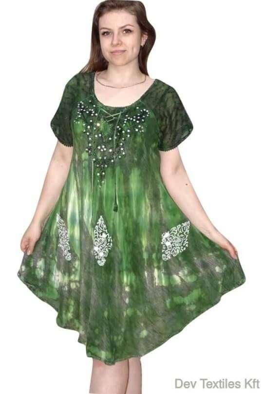 rövid ruha elegáns flitterekkel díszített ruha zöld