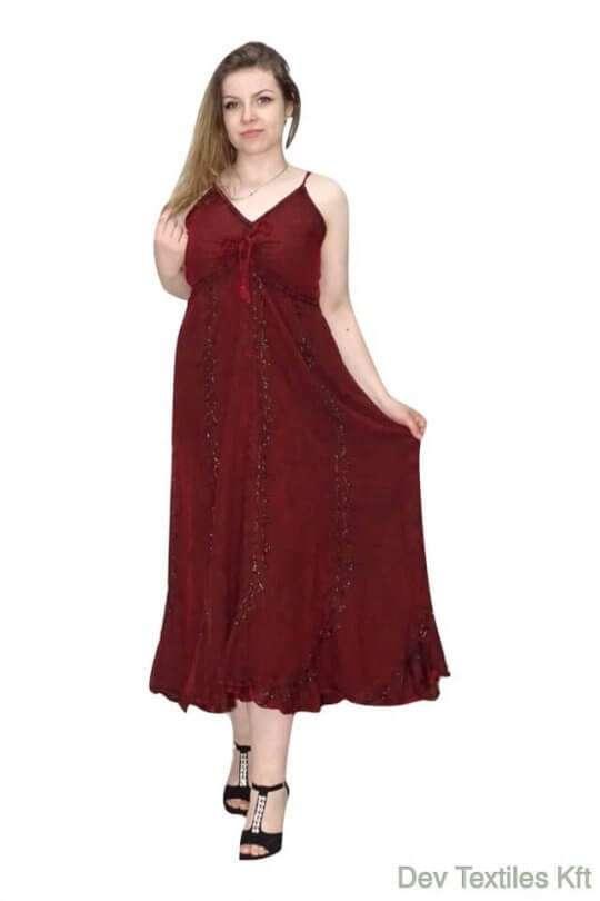 vékony pántos hosszú elegáns ruha indiából