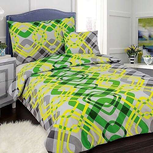 7 részes pamut ágynemű élénk zöld