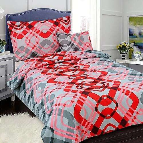 7 részes pamut ágyneműhuzat élénk piros