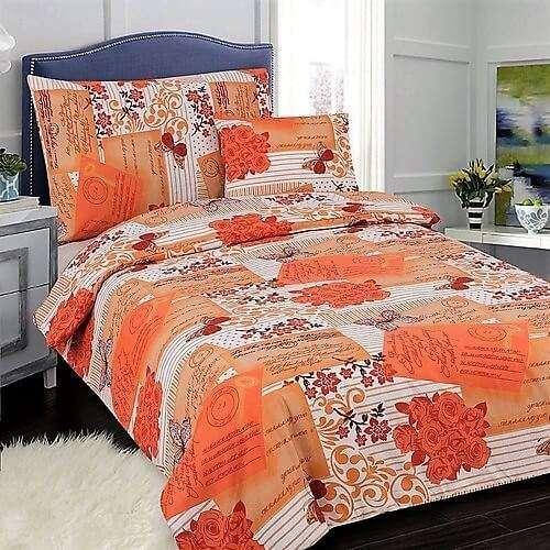 barack színben pillangó és virágok ágyneműhuzat