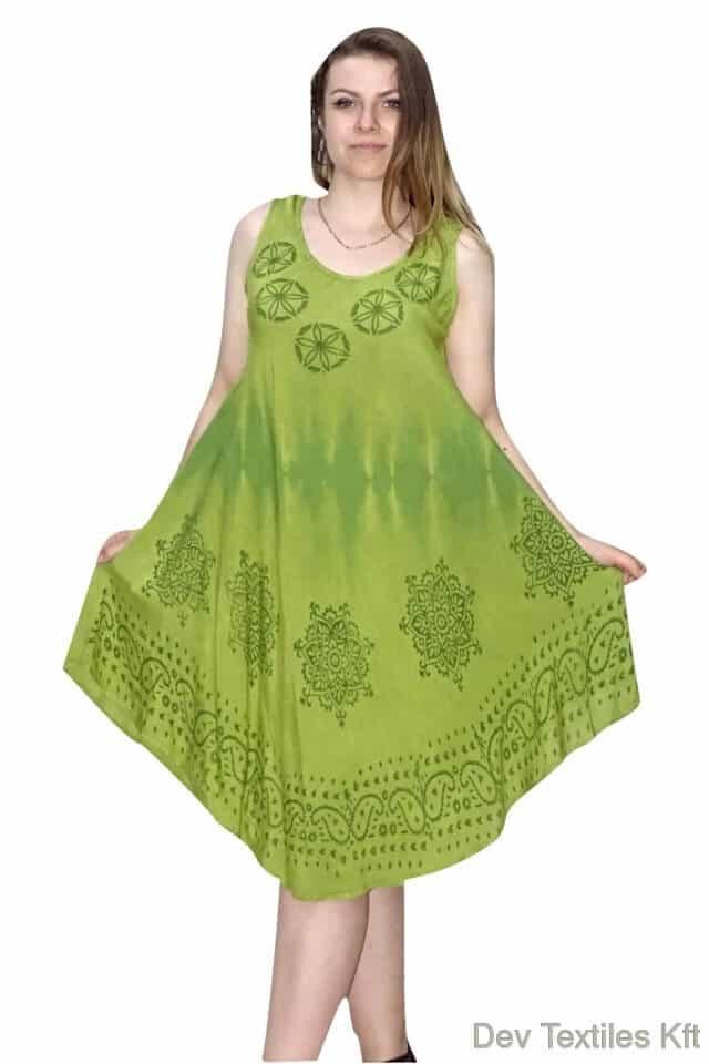 kör mintával rövid nyári ruha indiából