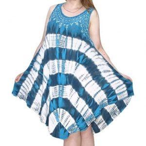 rövid nyári indiai ruha élénk mintával