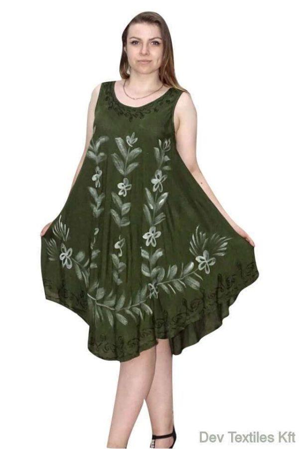 virág mintával rövid nyári ruha indiából