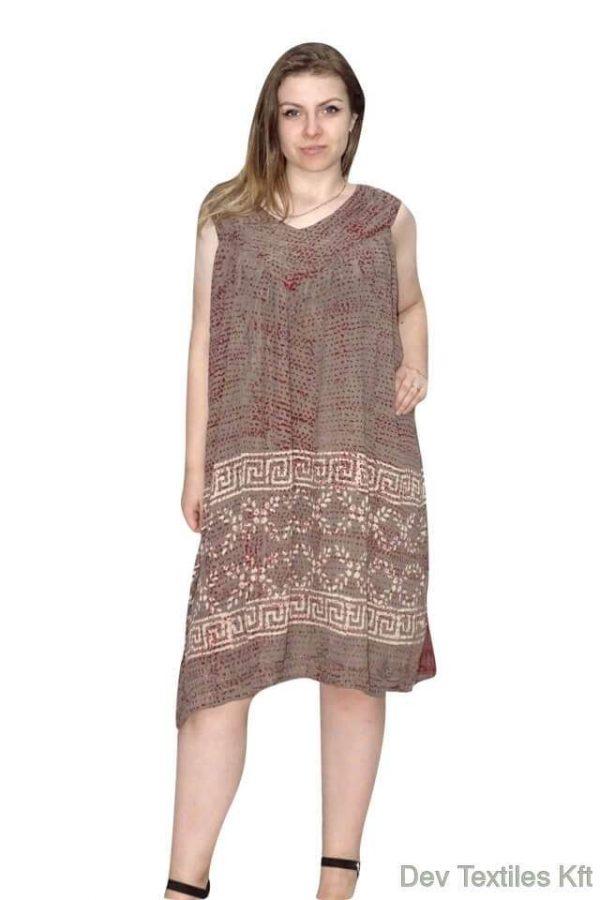 egyedi indiai rövid ruha egyenes fazon drapp