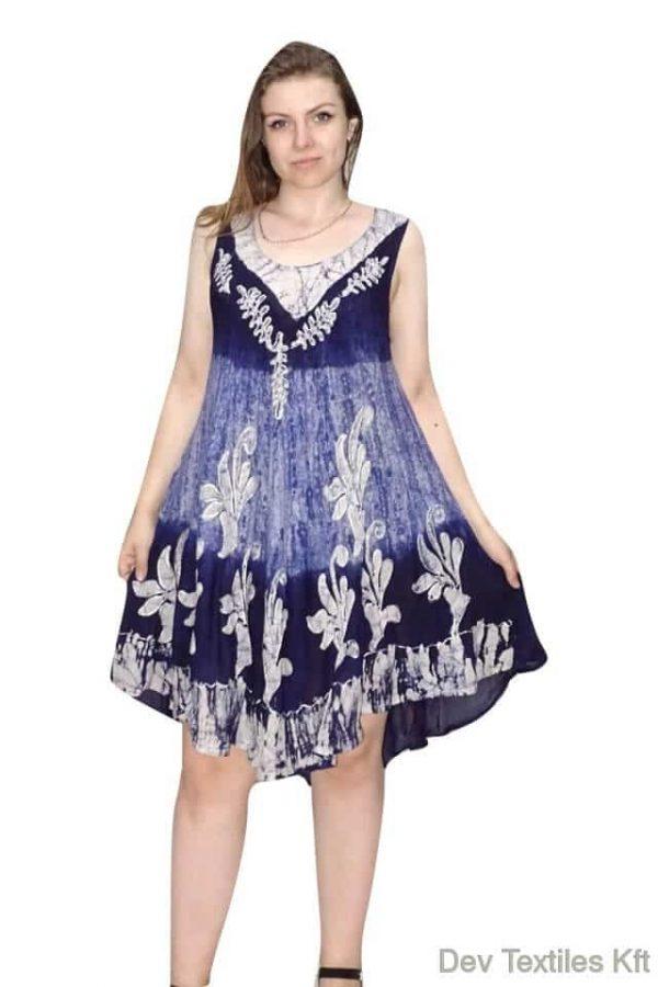 indiai rövid ruha keleti mintás stílusban kék