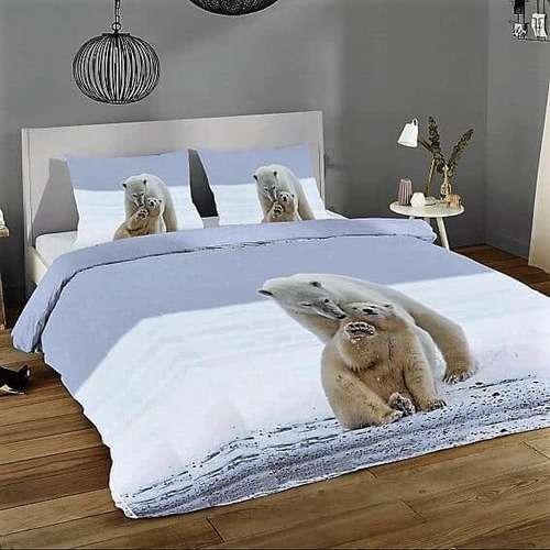 jegesmedve mintas Premium pamut ágyneműhuzat