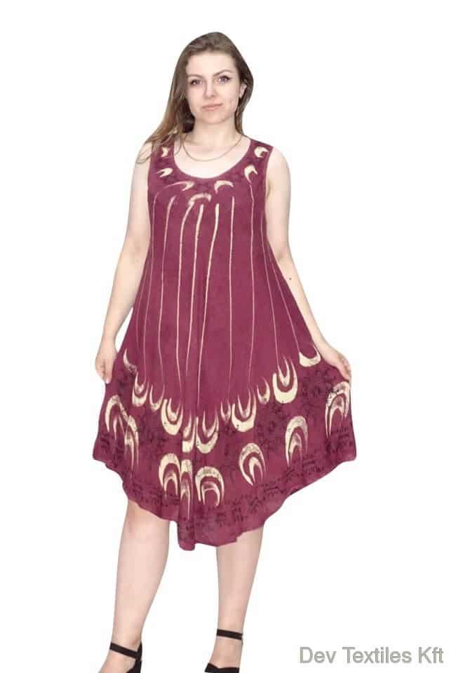 rövid nyári ruha indiából virag mintával