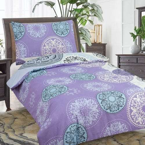 mandala mintás ágyneműhuzat levendula színben