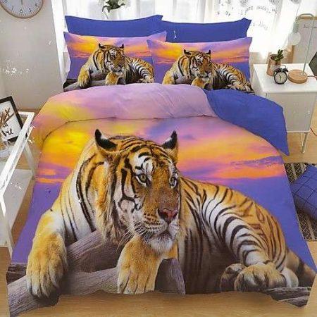 pamut ágyneműhuzat fekvő tigris mintával