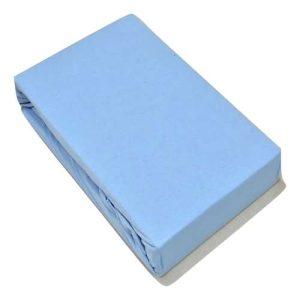 Jersey Gumis Lepedő Világos Kék