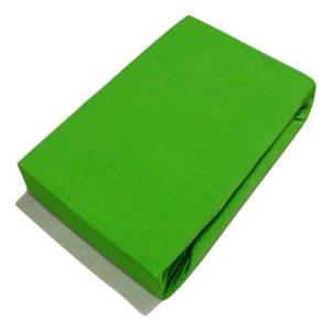 Jersey Gumis Lepedő Zöld Színben