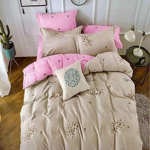 apró szivecskék krém és rózsaszín ágyneműhuzat