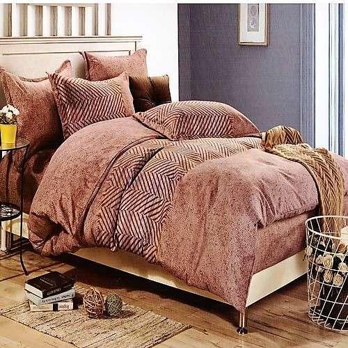 bézs barna alapon apró minta ágyneműhuzat