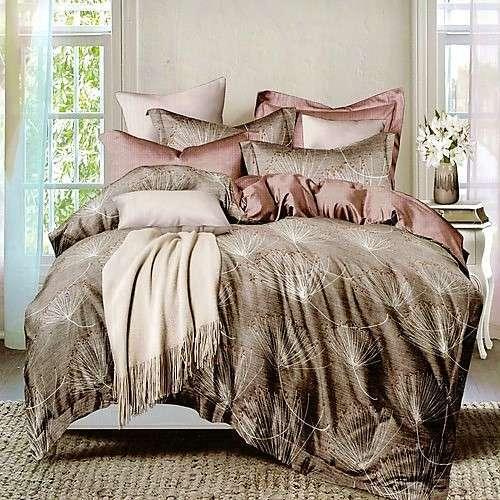 bronz színben virág mintás ágyneműhuzat