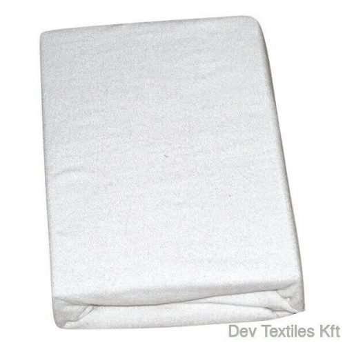 kétrétegű frottír gumis lepedő fehér színben