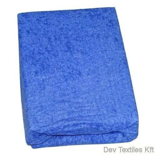 kétrétegű frottír gumis lepedő kék színben