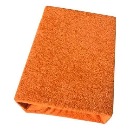 kétrétegű frottír gumis lepedő narancs színben