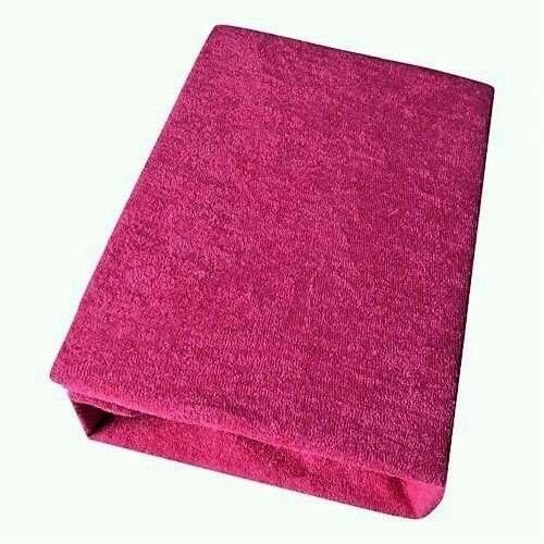kétrétegű frottír gumis lepedő pink színben