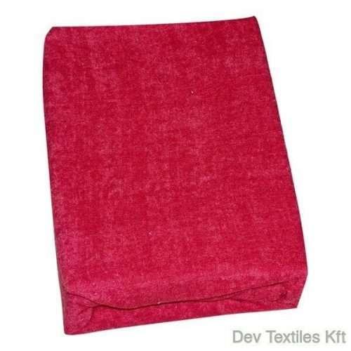 kétrétegű frottír gumis lepedő piros színben